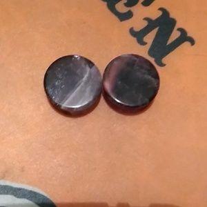 Jewelry - BNWOT 1inch Amethyst Plugs